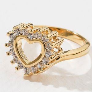 New Vanessa Mooney the prime gold cz heart ring